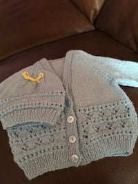 grey knitted button-up vest