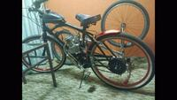 black and red motorized bicycle Mesa, 85203
