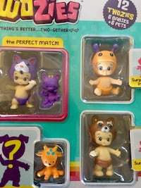 NEW  Twozies collectibles with box /  12 Adorable Twozies  6 Babies and 6 cute Pets Alexandria, 22311