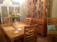 brown wooden dining table set VALRICO