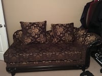 brown and black floral fabric loveseat Guelph, N1E 4H6