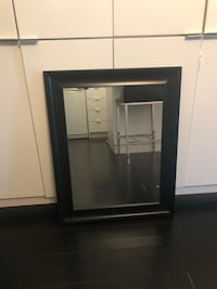 Med sized mirror with black wood frame Toronto, M5V 4A3