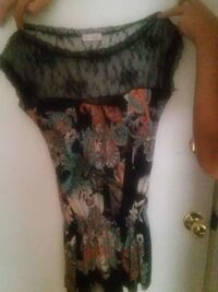 women's black and brown floral dress Duluth, 30096