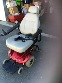 gray, black, red electronic wheelchair Stanton, 90680