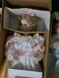 porcelain doll wearing white dress Edmonton, T5M 0L1