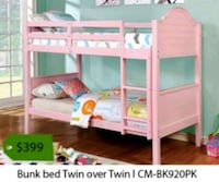 pink and white wooden bunk bed La Mirada, 90638