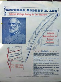 Robert E Lee reproduction letters Rossville, 30741