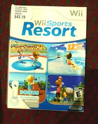 Nintendo Wii black game system + Wii Sport Resorts Mississauga, L5V 1X9