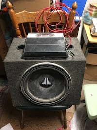 black and gray subwoofer speaker Woodstock, N4S 2N9