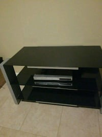 black wooden 2-layer TV stand Sterling Heights, 48311