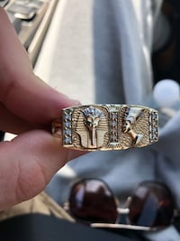 10K Gold // Pharaoh 2Finger Pinky Ring
