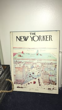 The New York wall decoration with black wooden frames