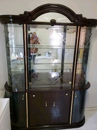 black wooden framed glass display cabinet New York, 10027