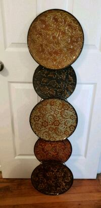 four brown-and-black floral ceramic plates Chesapeake, 23320