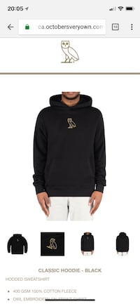 black and white Adidas pullover hoodie Toronto, M5J