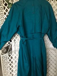 Aqua/Greenish/Blackish zip out lining ladies light weather coat. Size 12 good condition spring jacket Dolton, 60419