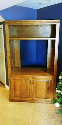 brown wooden cabinet with hutch Cambridge