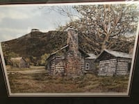 brown wooden framed painting of house Ocala, 34471