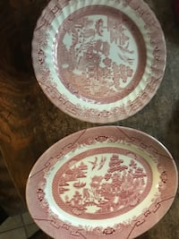 Red and white china serving plates Palm Coast, 32137