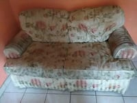 white and red floral fabric 2-seat sofa Laredo, 78040