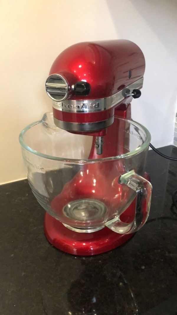 Kitchenaid Artisan Design Series Stand Mixer Glass Bowl And Ice Cream Maker Accessory