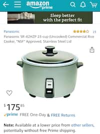 Used and new rice cooker in Chicago - letgo