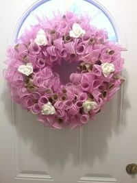 Pink and Burlap Lace Wreath Welland, L3B 1R1