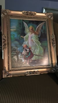 """Guardian angel protecting children  large picture 32""""h 27""""w. Maplewood, 55119"""