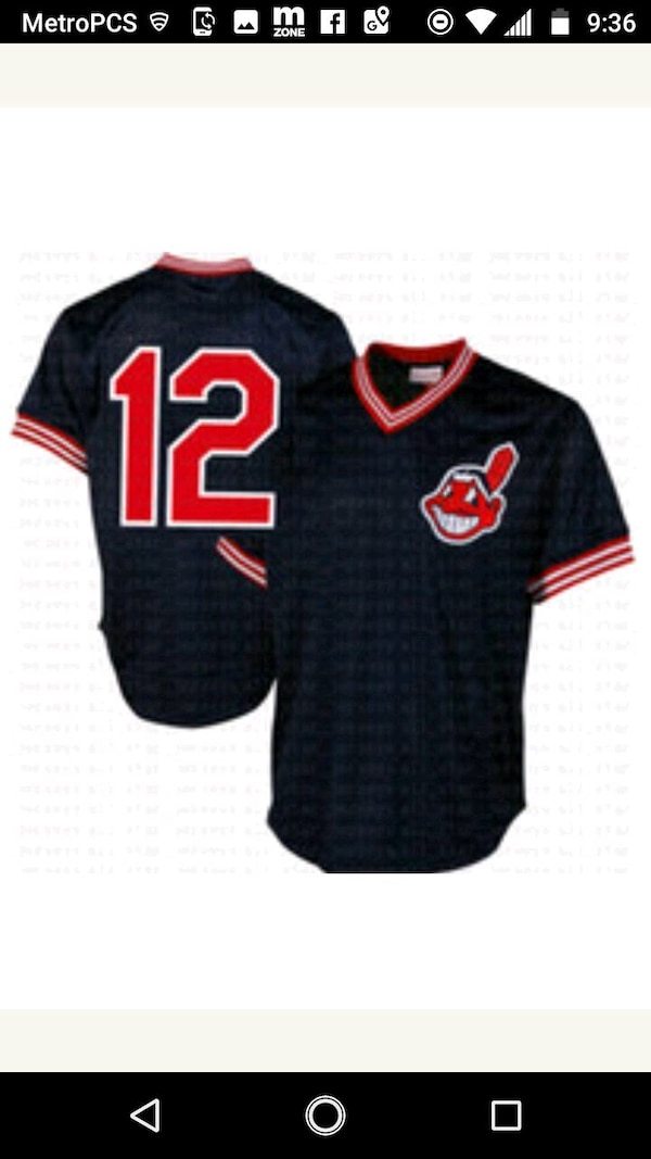 more photos 01fea edef1 Cleveland Indians red white blue jersey 2x only