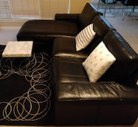 Black Leather couch Sterling