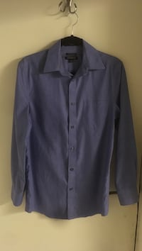 Periwinkle Blue Men's Cotton Button Up 3017 km