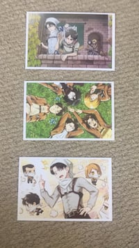 Anime Attack on titan post cards  New Westminster, V3M 1G8
