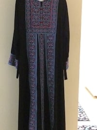 women's purple and brown floral traditional dress