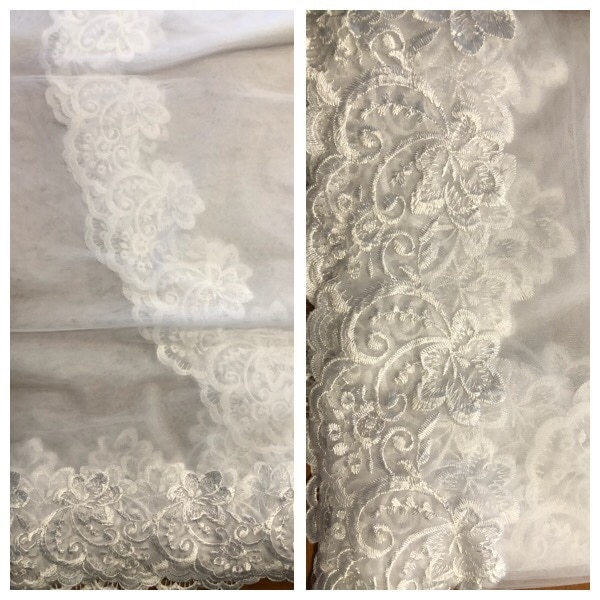 Full length  lace cathedral veil