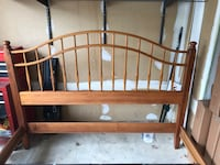 Queen size maple bed. Hand made in Vermont. Very good condition. I am moving and can't take it with me. Gaithersburg, 20878