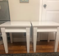White wooden side tables Lehi, 84043