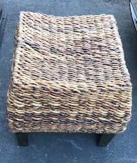 Nice rattan Stool with wood legs Sterling, 20164