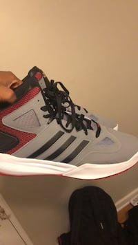 gray-and-black Adidas running shoes Somerset, 08873
