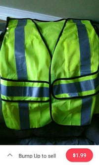 green safety reflector vest