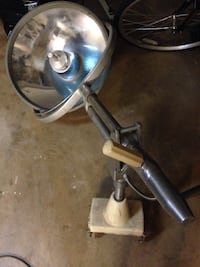 Old surgical table lamp