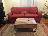red and brown sectional couch 25 mi