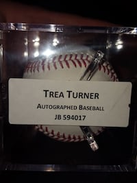 white and red Trea Turner baseball Alexandria, 22312