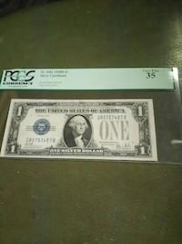 """1928 B series $1 """"funny back"""" silver certificate"""