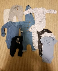 Preemie size clothes baby boy  - Carters New Westminster, V3M 0A3