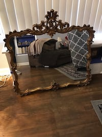 brown wooden framed mirror with table Arlington, 22213