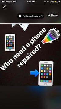 Iphone 4,4s,5,5c,5s,6,6+,6s,6sq+,7,7+,8,8+,x and all samsung phones repairs Silver Spring