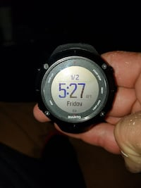 black Suunto gps tracking for backpacking watch