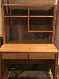Brown wooden desk with hutch Bedford, 76021