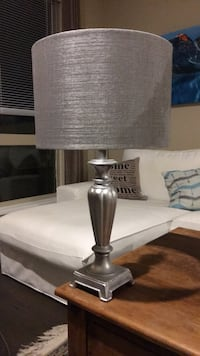 white and gray table lamp North Vancouver, V7P 1T4