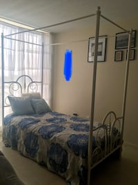 4 poster canopy twin bed $100 OBO